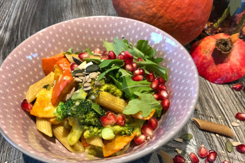 Vegan Kürbis Kokos Pfanne Rezept Sarah Kläser Ernährungsberatung Saarland